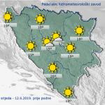 Danas u BiH sunčano i vruće