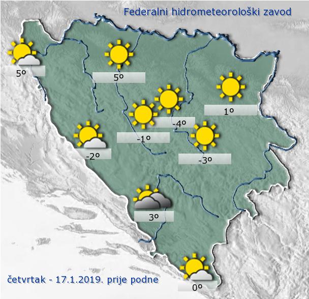 U većem dijelu BiH pretežno oblačno vrijeme