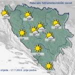 U BiH danas sunčano vrijeme uz malu do umjerenu oblačnost