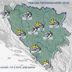 U BiH oblačno s kišom i snijegom