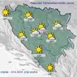 U BiH danas sunčano, poslije podne lokalni pljuskovi