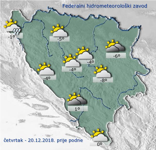 Danas se u BiH očekuje pretežno oblačno vrijeme