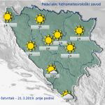 Nakon pretežno oblačnog jutra slijedi postepeno razvedravanje u BiH