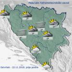 Vremenski bilten Federalnog HMZ-a - Danas se u BiH očekuje oblačno vrijeme