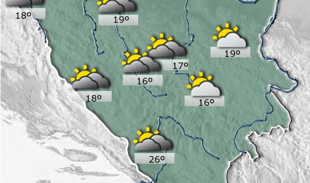 Danas u BiH umjereno oblačno virijeme
