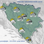 Danas u BiH oblačno s kišom