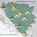 U BiH danas sunčano i toplo, poslijepodne kiša i pljuskovi
