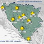 Danas u BiH sunčano i toplo