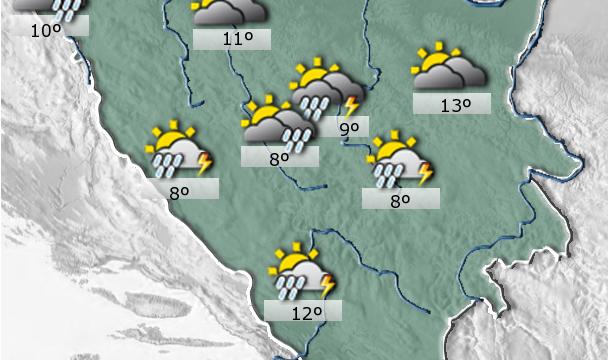 Federalni hidrometeorološki zavod – Danas u BiH pretežno oblačno vrijeme