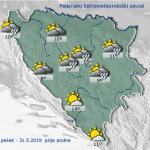 U BiH jutros oblačno, popodne u većini zemlje pljuskovi