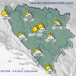 U BiH danas sunčano uz umjerenu oblačnost