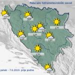 Danas u Bosni i Hercegovini sunčano vrijeme uz malu do umjerenu oblačnost