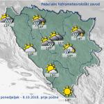 U BiH danas oblačno, poslijepodne kiša i grmljavina