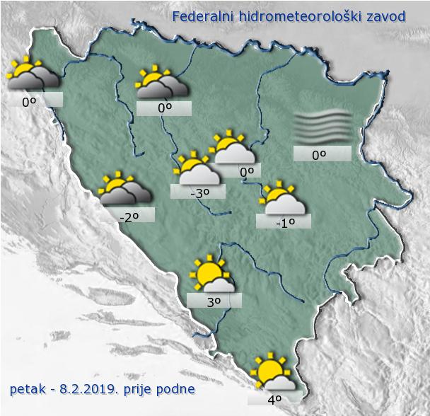 U BiH pretežno oblačno vrijeme