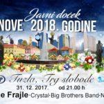 Javni doček Nove godine na Trgu slobode u Tuzli
